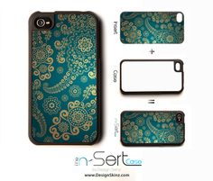 iPhone 4 Case with Changeable Inserts.  I want it in black.