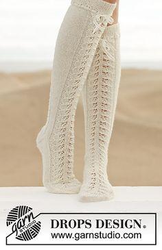 DROPS Knit design lace socks free pattern