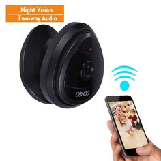 Mini IP Camera, UOKOO Home WiFi Wireless Security Surveillance Camera System with Night Vision/Two Way Audio (nightblack) Security Surveillance, Security Alarm, Surveillance System, Best Home Security, Security Cameras For Home, Mini Wireless Camera, Wireless Home Security Systems, Security Products, Security Tips