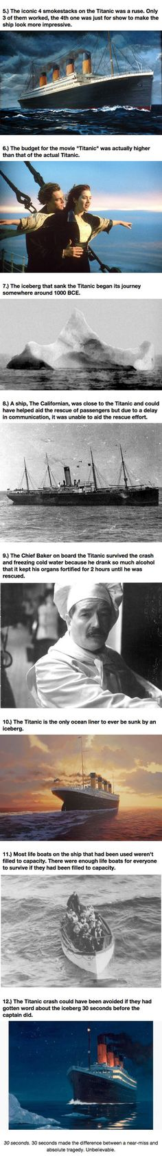 The Titanic would ironically have survived if it had hit the iceberg head on instead of along the side