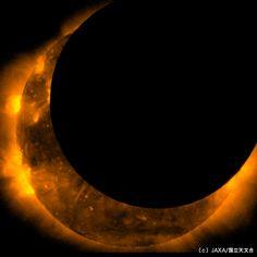 ISAS | 金環日食 / イベント  「ひので」が観測した金環日蝕