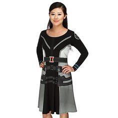 Black Widow Long Sleeve Dress - Exclusive | ThinkGeek