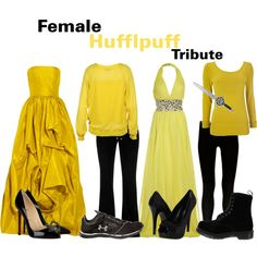 The Hunger Games/Harry Potter Cross Over : Female Hufflepuff Tribute, created by nearlysamantha on Polyvore
