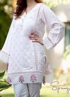 Sleeves Designs For Dresses, Dress Neck Designs, Stylish Dress Designs, Blouse Designs, Simple Pakistani Dresses, Pakistani Fashion Casual, Pakistani Dress Design, Frock Fashion, Women's Fashion Dresses