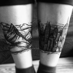 DIFFERENT mountains and the city tattoo I don't like the art here so much, but its a cool idea