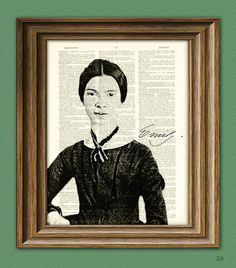 Emily Dickinson Print Poet writer illustration by collageOrama