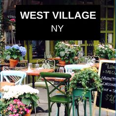 west village: NY - my must do list!