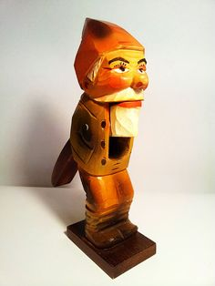Old German Nutcracker - Bearded Man With Red Hat - Hand Painted. $45.00, via Etsy.