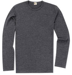 Archive Fine Knit Wool Charcoal Melange Jumper | Sunspel