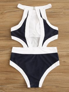 To find out about the Two Tone Cut Out One Piece Swimsuit at SHEIN, part of our latest One-Pieces ready to shop online today! Swimsuits For Big Bust, One Piece Swimsuit Trendy, Cute Swimsuits, Bathing Suits For Teens, Cute Bathing Suits, Swimwear Fashion, Bikini Swimwear, Bikinis, Cut Out One Piece