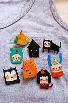 Shrink Plastic Brooches! | Flickr - Photo Sharing!