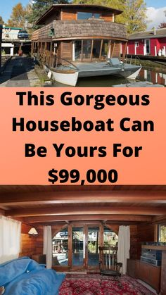 This #Gorgeous #Houseboat Can Be #Yours For $99,000