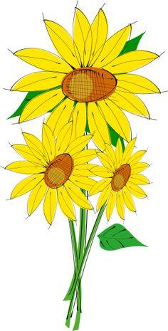 Sunflower Corner Border Clipart