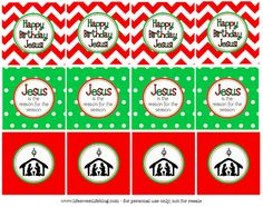 Life {Sweet} Life: Happy Birthday Jesus! cupcake toppers {Free Printable} Christmas Jesus, Preschool Christmas, Christmas Holidays, Christmas Ideas, Merry Christmas, Preschool Class, Christmas Snacks, Preschool Ideas, Christmas Printables