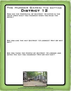 Compare the setting of District 12 from The Hunger Games novel and movie.