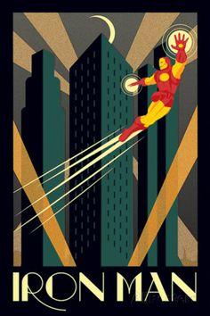 Marvel Deco - Iron Man Affiche sur AllPosters.fr