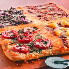 4-Square Family Pizza - Find this recipe in our Recipe IdeaBase!