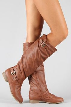 COCO 1 Womens Buckle Riding Knee High Boots TAN - http://cheune.com/a/73391857836395505