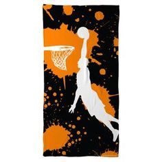 Basketball Beach Towel Slam Dunk