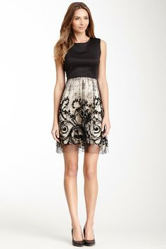 Gorgeous with the sheer back! Julia Jordan Sleeve Lace Dress by Julia Jordan on @HauteLook