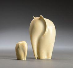 by Kjeld Jordan Stone Sculpture, Modern Sculpture, Abstract Sculpture, Sculpture Art, Ceramic Animals, Wooden Animals, Ceramic Art, Elephant Home Decor, Elephant Figurines