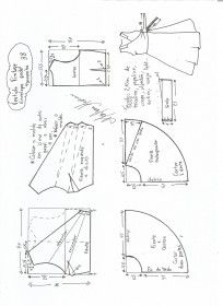 Discover thousands of images about Esquema de modelagem de vestido vintage envelope tamanho 50 T Shirt Sewing Pattern, Pattern Drafting, Dress Sewing Patterns, Sewing Patterns Free, Clothing Patterns, Wrap Dress Patterns, Sewing Clothes, Diy Clothes, Costura Fashion