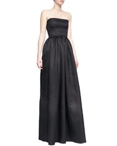 Black Halo Eve Mykel Strapless Crepe Gown 2014