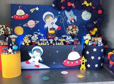 15 ideas para tu fiesta de Astronauta 2nd Birthday Party Themes, Diy Birthday Banner, Baby Boy 1st Birthday, Third Birthday, Boy Birthday Parties, Birthday Balloons, Birthday Party Decorations, Planes Birthday, Astronaut Party
