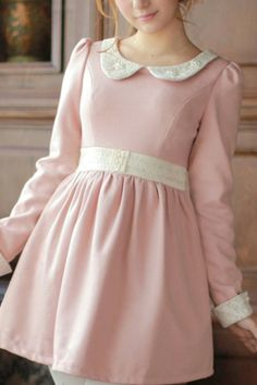 peter pan collars & long sleeved dressed <3 <3 <3