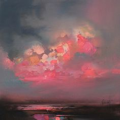 Luminous Sunset Painting By Scott Naismith #art #scotland