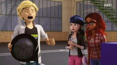 Adrien is allergic to feathers. REMIND YOU OF A CERTAIN CHAT NOIR MARRINETTE?