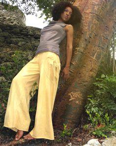 Wanderlust Pants in 100% Organic Cotton Hemp Jersey. Made to order