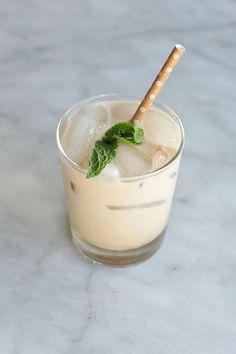 homemade mint iced c