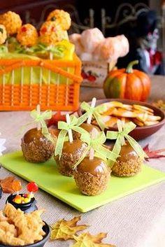 Halloween Recipes : Butterfinger Caramel Apples