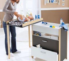Mueble cambiador > Minimoda.es comoda bañera cambiador bebe Baby Bedroom, Baby Room Decor, Nursery Room, Kids Bedroom, Nursery Furniture, Kids Furniture, Baby Staff, Baby Playroom, Changing Table Dresser