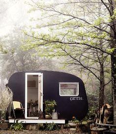 caravan in the back yard