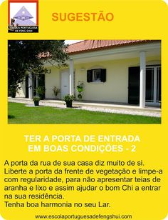 Escola Portuguesa de Feng Shui: SUGESTÃO - PORTA DE ENTRADA - 2