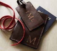 Saddle Leather Passport Holder | Pottery Barn