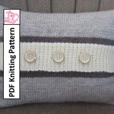 Button Stripe 12×16 pillow Knitting Pattern