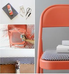 DIY How to Paint and Cover Worn out Chairs http://sulia.com/my_thoughts/073c9e4b-edcc-441d-9f80-76a767cab6a5/?pinner=125453113&