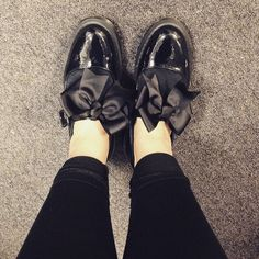 black mariel patent, part of the womens dr martens flat shoes range  available at schuh