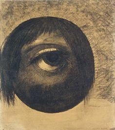 L'oeil - Odilon Redon - vers 1880