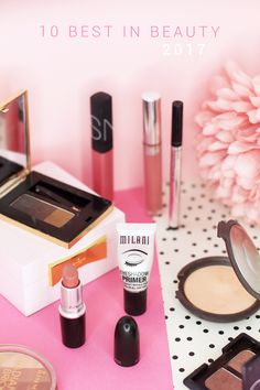 A look at my top ten ultimate beauty picks for 2017 featuring brands such as Rimmel, NARS, DHC, Colourpop, MAC, Becca, YSL, all the products I basically love this year long! From The Makeup Directory.
