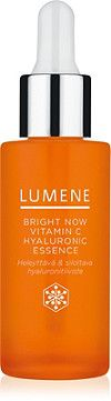 Lumene Bright Now Vitamin C Hyaluronic Essences is a super concentrated miracle water to instantly boost skin hydration, brighten and smooth wrinkles.