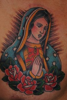 Virgin Mary #tattoo by George Patton