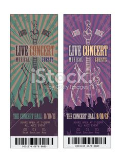Fall Festival Concert Ticket Template  Concert Ticket Template