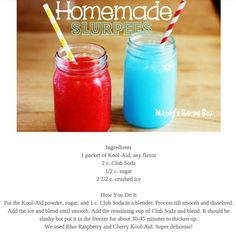 Happy 7-11: Homemade slurpees