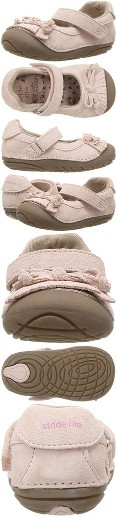 Stride Rite Girls' Soft Motion Georgina Mary Jane Flat, Light Pink, 4.5 Wide US Toddler