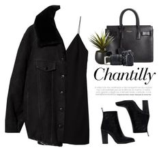 """- Photograph -"" by lolgenie ❤ liked on Polyvore featuring T By Alexander Wang, Yves Saint Laurent, Acne Studios, CB2, Byredo, Nikon and Zara"