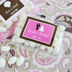Personalised Wedding Jelly Bean Favours